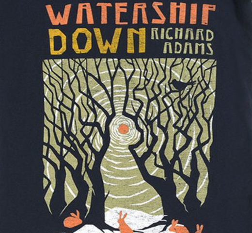 【Out of Print】 Richard Adams / Watership Down Scoop Neck Tee (Midnight Navy) (Womens)