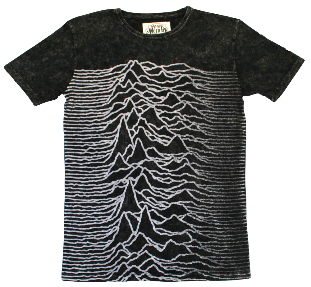 【Worn By】 Joy Division / Unknown Pleasures Panel Tee (Charcoal Stone Wash)