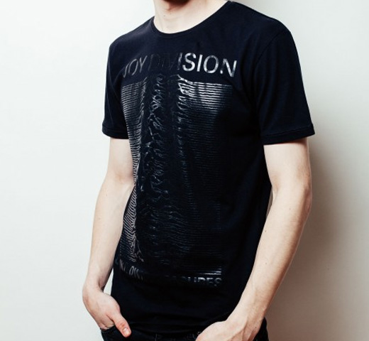 [Worn By] Joy Division / Unknown Pleasures Tone on Tone Tee (Black)