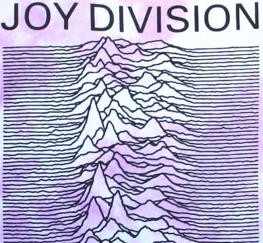 【Worn By】 Joy Division / Unknown Pleasures Drape Tee (Purple Dip Dye) (Womens)