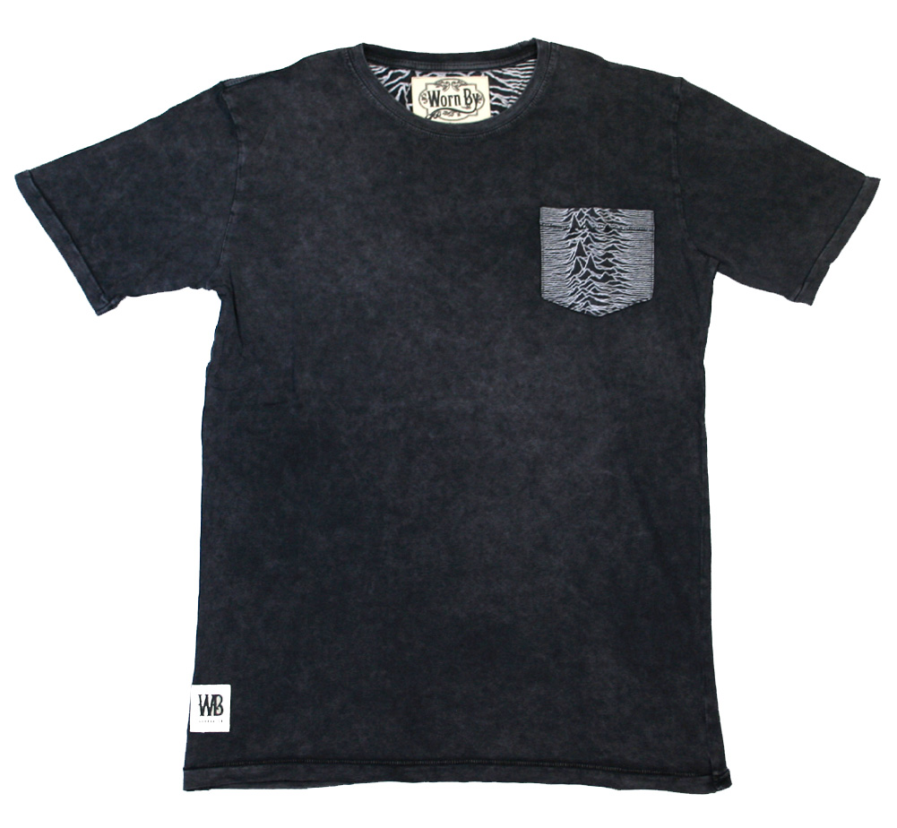 【Worn By】 Joy Division / Unknown Pleasures Pocket Tee (Charcoal)