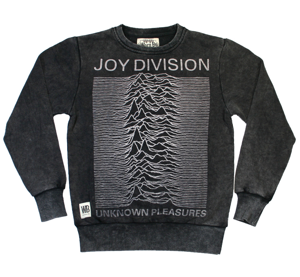 【Worn By】 Joy Division / Unknown Pleasures Stone Wash Sweat (Charcoal)
