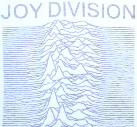 【Worn By】 Joy Division / Unknown Pleasures Boyfriend Tee (White Reverse) (Womens)