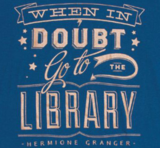 【Out of Print】 Hermione Granger / When in doubt, go to the library Tee (Ravenclaw Blue)