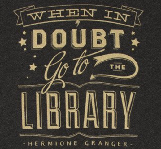 【Out of Print】 Hermione Granger / When in doubt, go to the library Tee (Black)