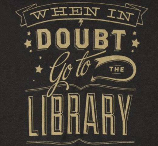 【Out of Print】 Hermione Granger / When in doubt, go to the library Tee (Black) (Womens)