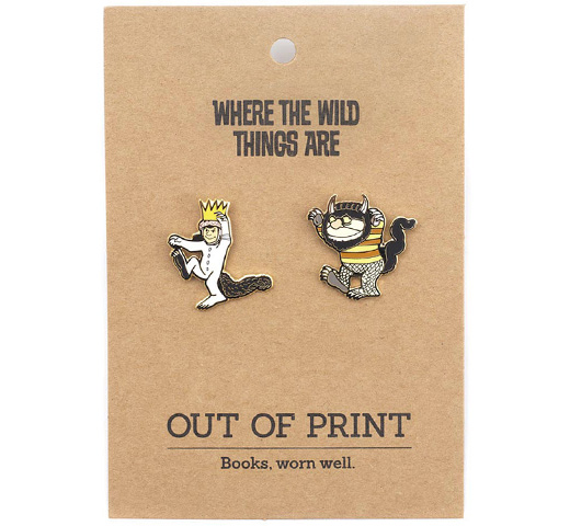 【Out of Print】 Maurice Sendak / WHERE THE WILD THINGS ARE Enamel Pin Set