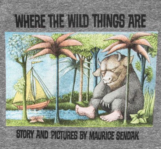【Out of Print】 Maurice Sendak / WHERE THE WILD THINGS ARE Tee (Heather Grey)
