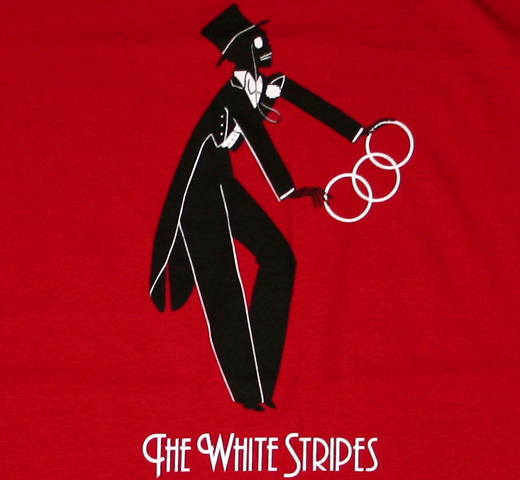 The White Stripes / Magician Tee (Red) (Womens)