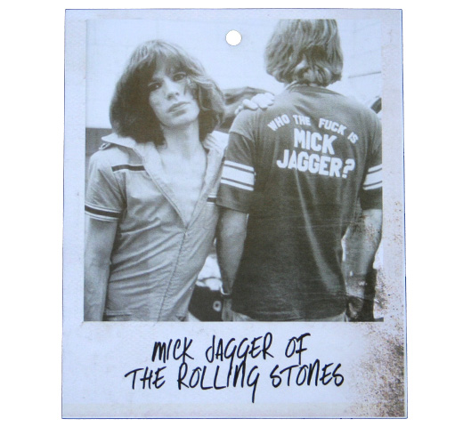 【Worn By】 Keith Richards / Who The Fuck is Mick Jagger? Tee (Blue Stonewash)