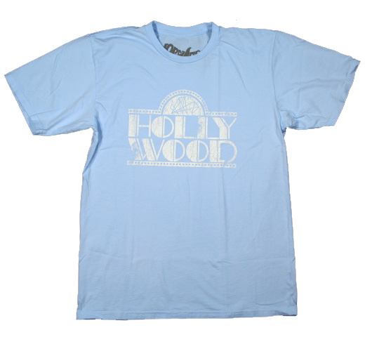 【Worn Free】 Willie Hall / Hollywood Tee (Light Blue)