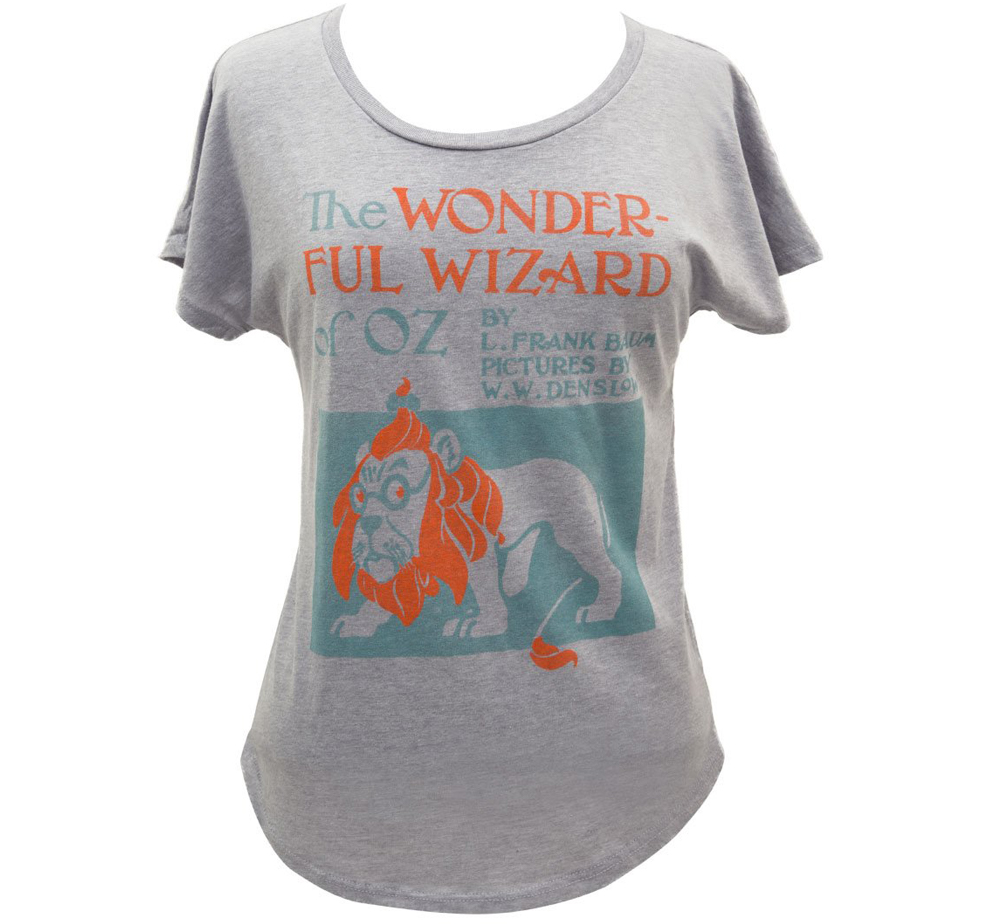 [Out of Print] L. Frank Baum / The Wonderful Wizard of Oz Relaxed Fit Tee (Heather Grey) (Womens)
