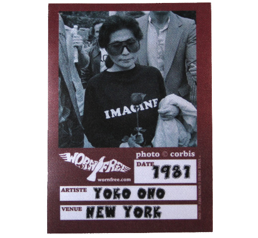 【Worn Free】 Yoko Ono / Imagine Tee